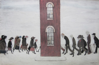 A Lowry Painting with Figures