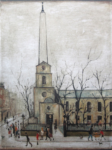 Lowry : St. Luke's Church, Old Street, London E.C.